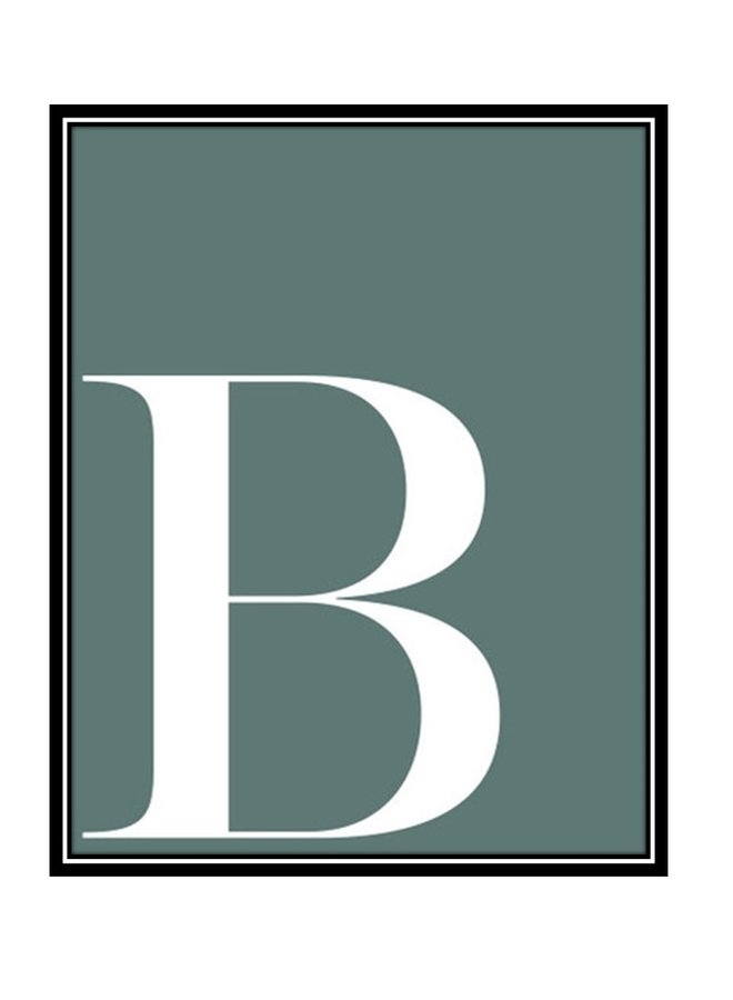 Letterposter letter B | petrol wit
