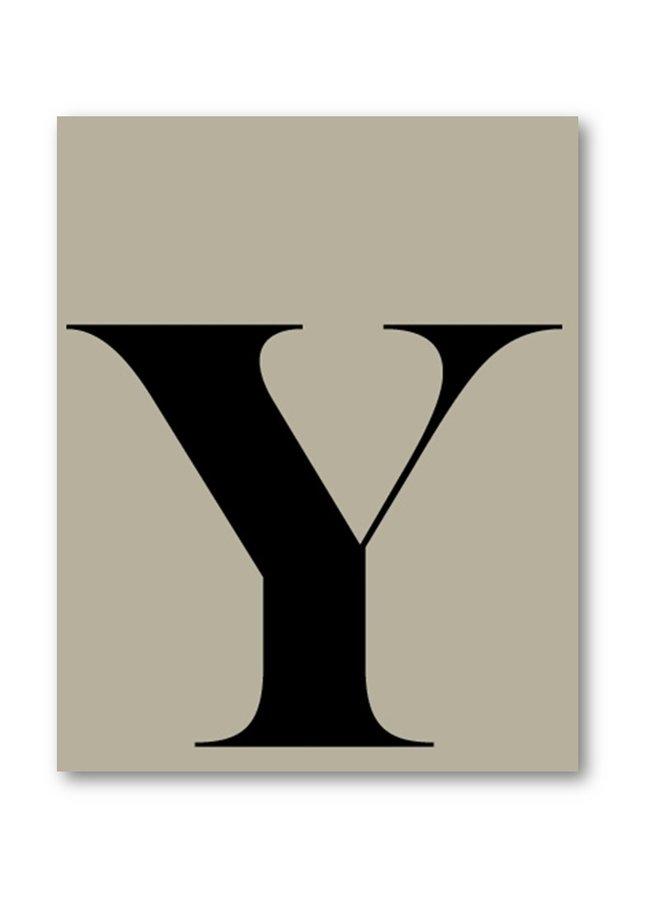 Letterposter letter Y | zand zwart