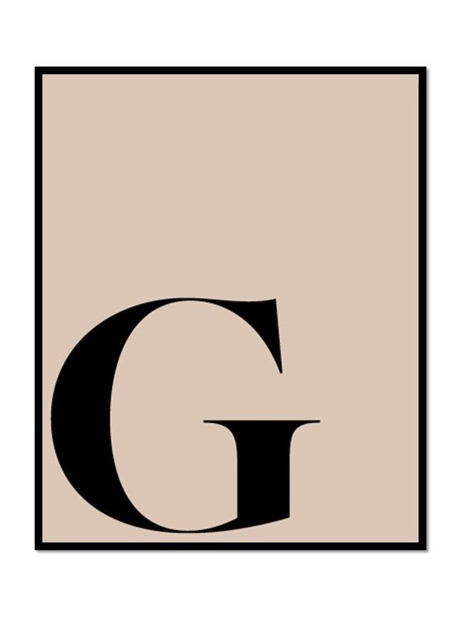 Letter print letter G | liver black