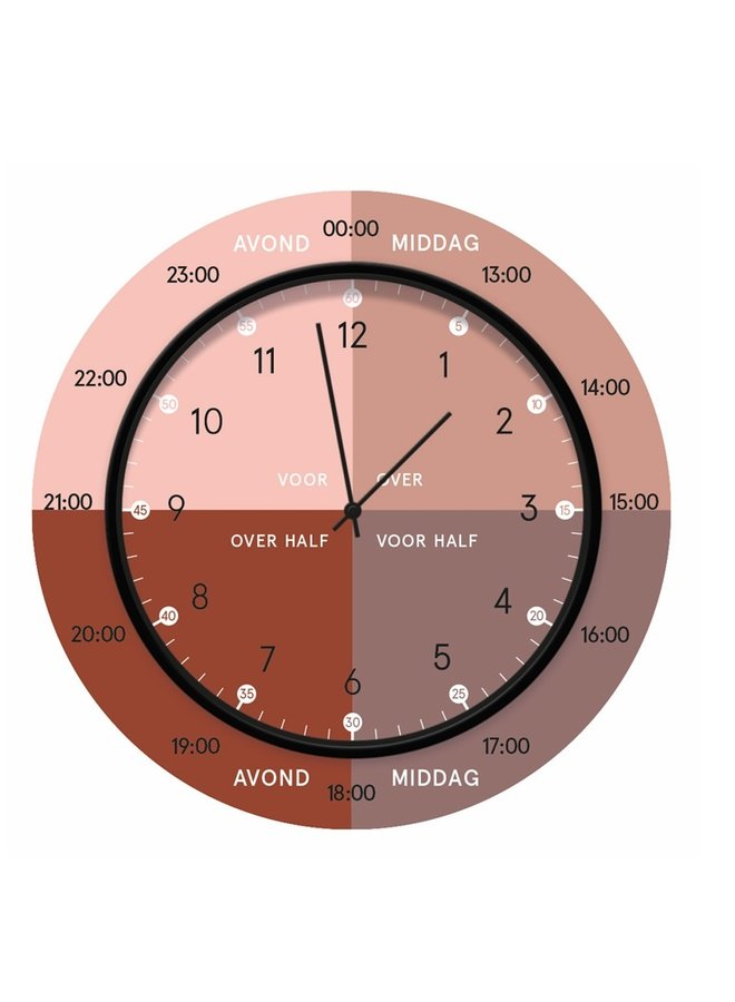 Children's learning clock | dusty pink