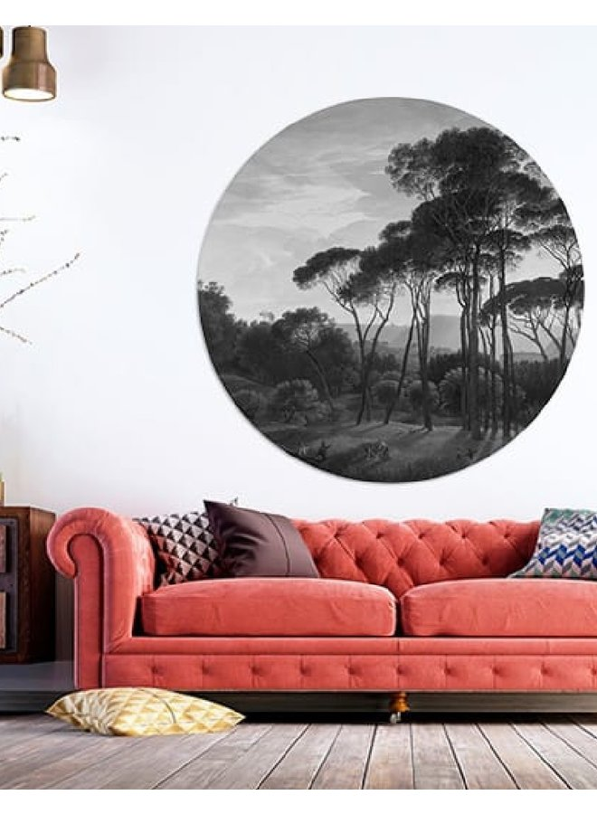 Wall Circle forrest black|white