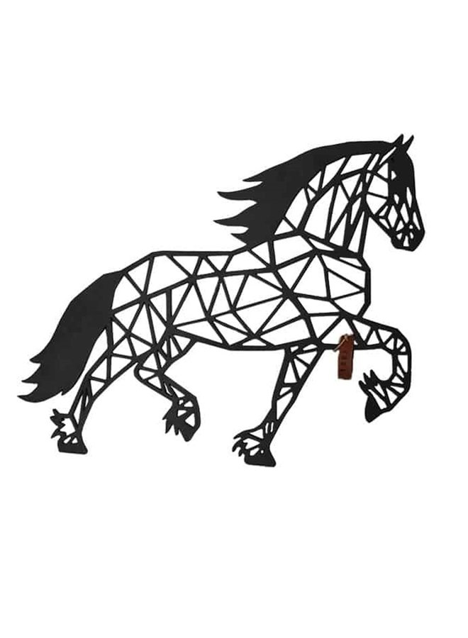Houten wanddecoratie Dravend paard