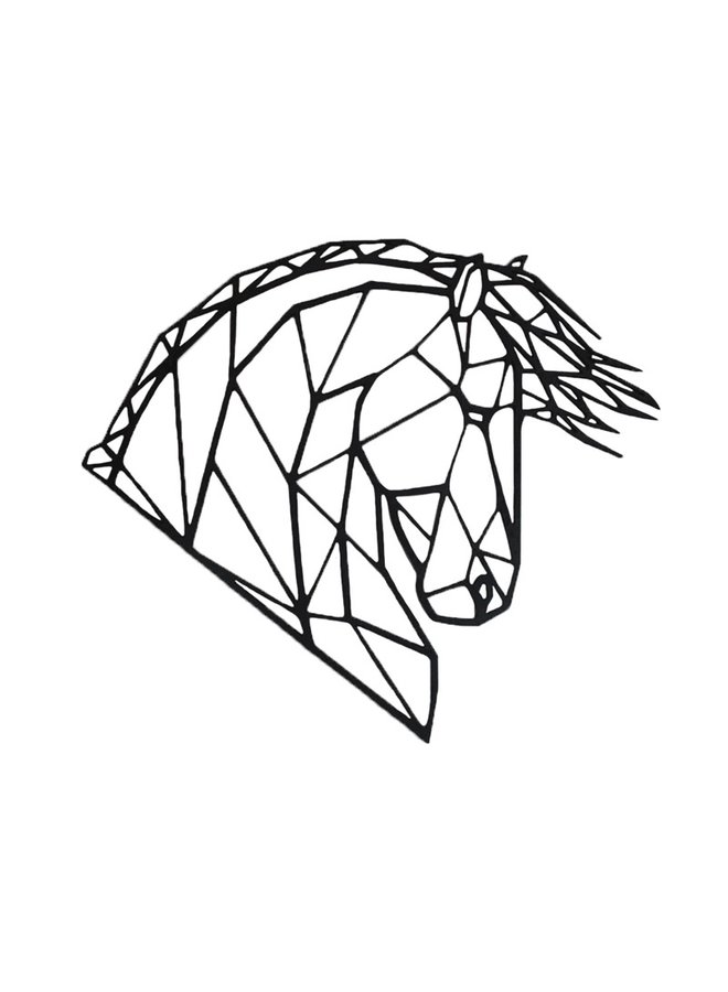 Houten wanddecoratie Fries paard