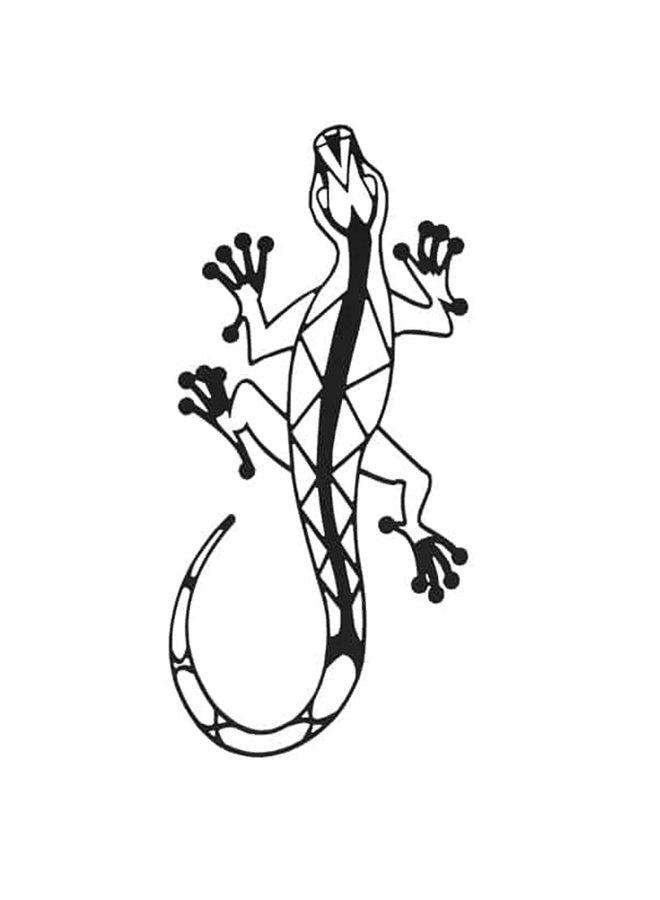 Wooden wall decoration Lizard
