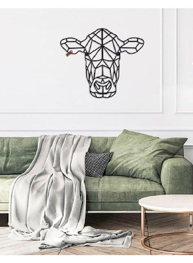 Houten wanddecoratie Koe