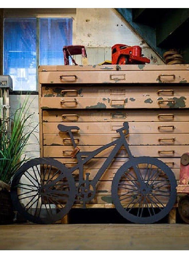 Houten wanddecoratie Mountain Bike