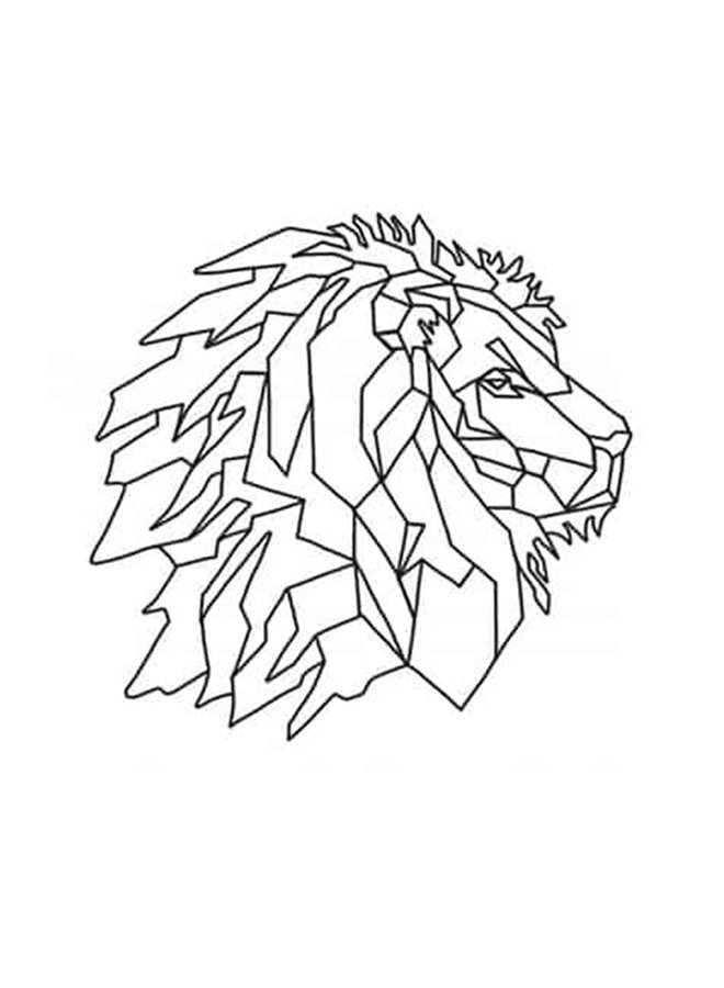 Wooden wall decoration Lion