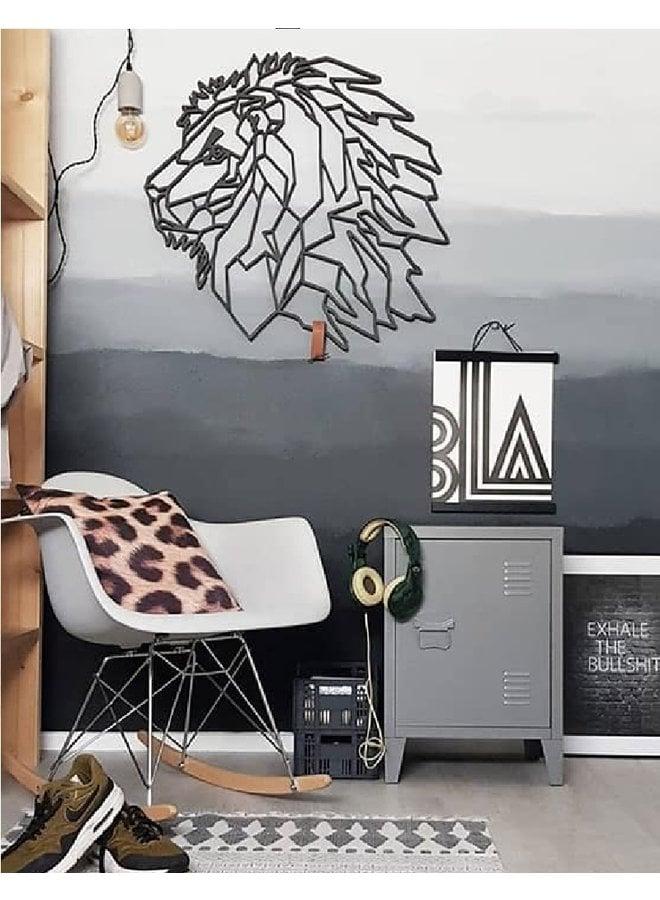 Houten wanddecoratie Leeuw