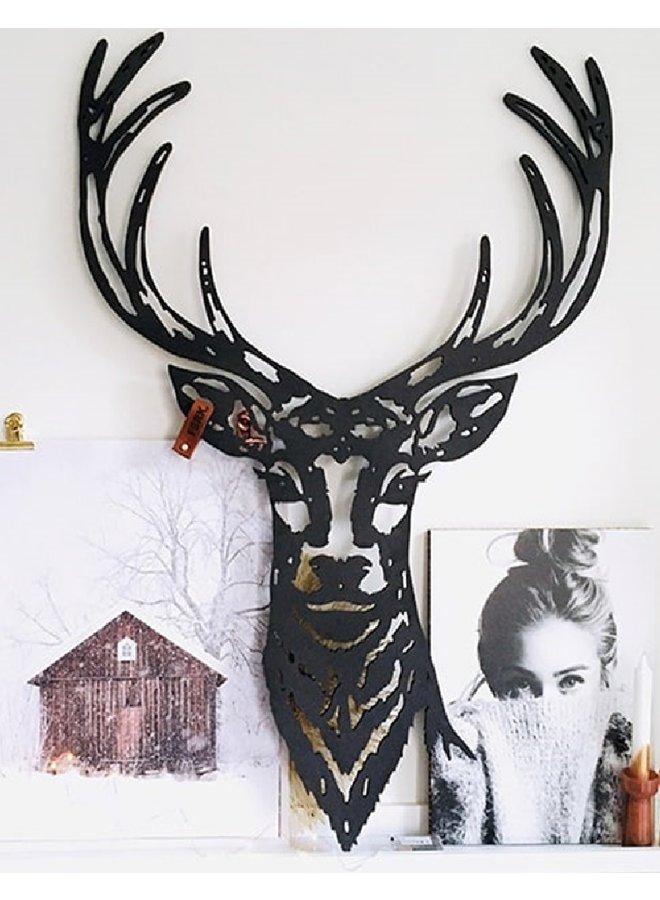 Houten wanddecoratie Deer