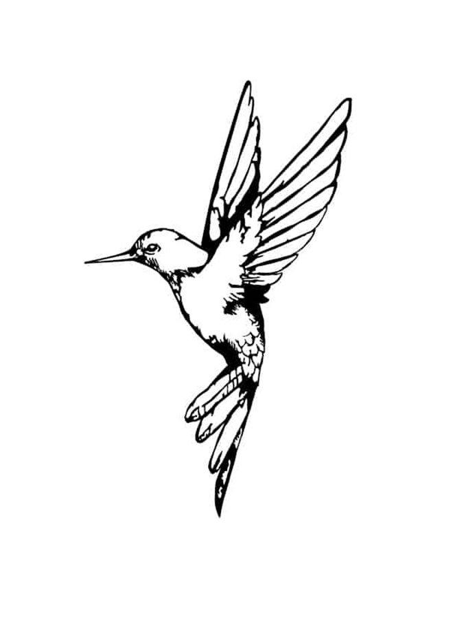 Houten wanddecoratie Hummingbird