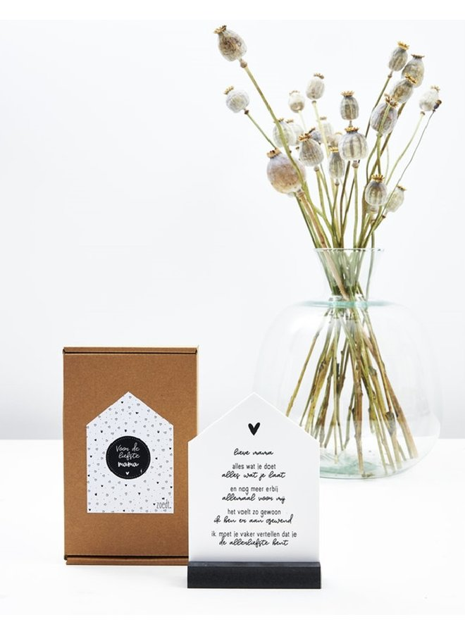 Gift house with poem for the dearest mother