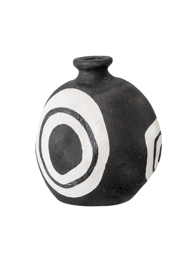 Vase, Mika Deco, Black, Terracotta