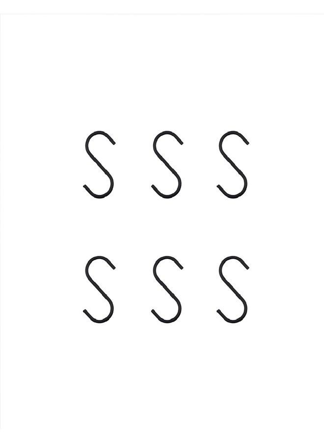 S-Haak Snap zwart S
