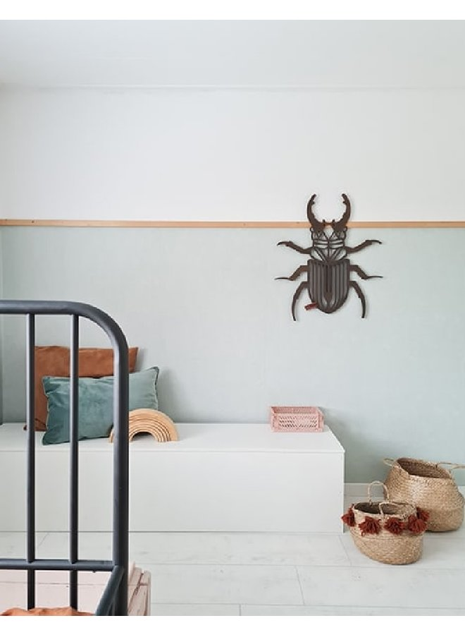 Wooden wall decoration Beetle