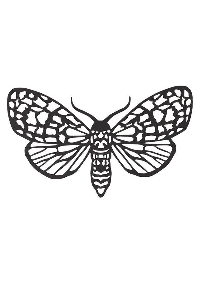 Houten wanddecoratie Nachtvlinder