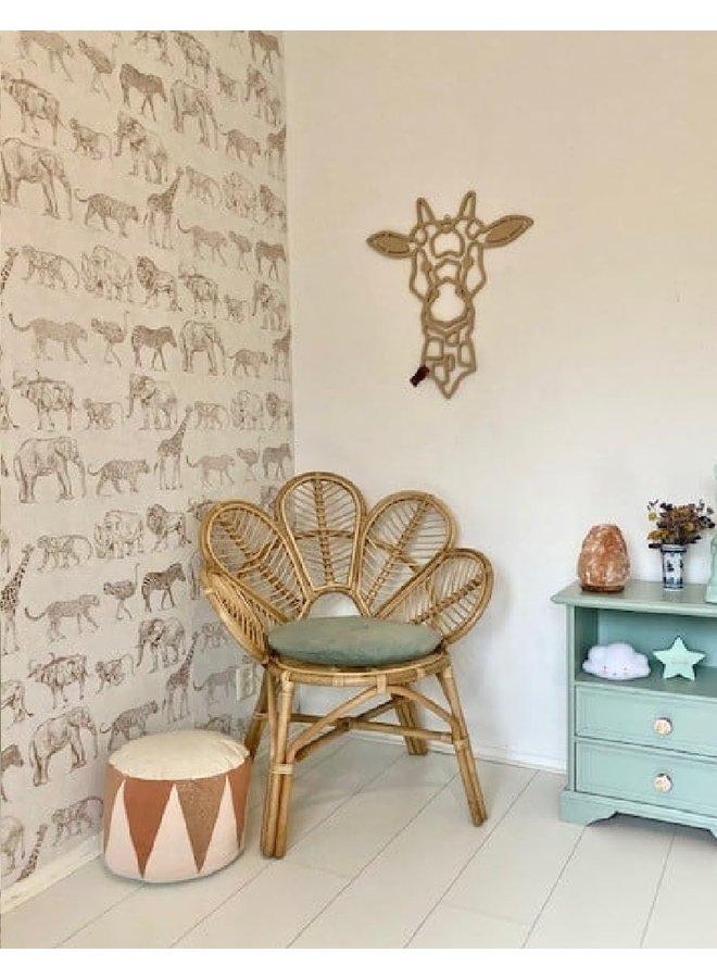 Wooden wall decoration Giraffe calf