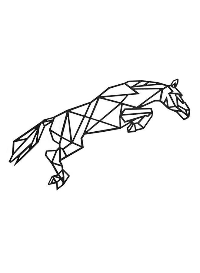 Houten wanddecoratie Springend paard