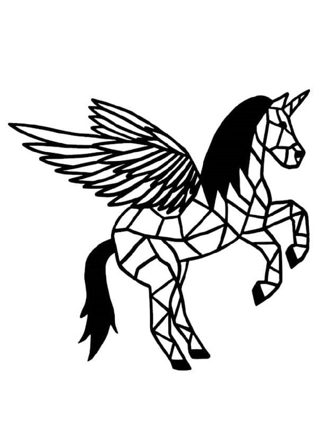 Houten wanddecoratie Pegasus