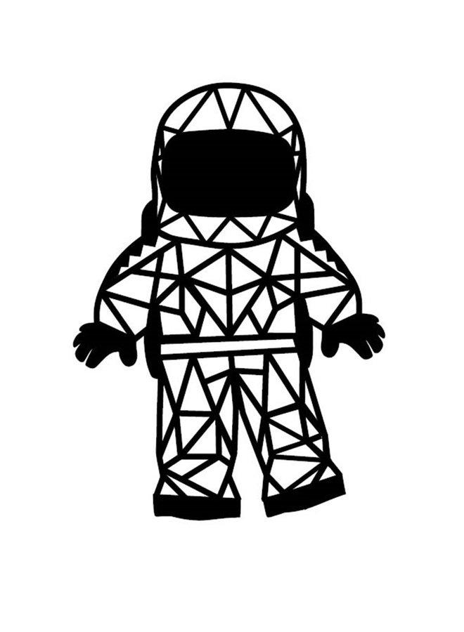 Houten wanddecoratie Astronaut