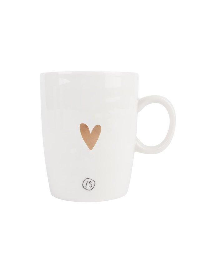 Tea mug golden heart