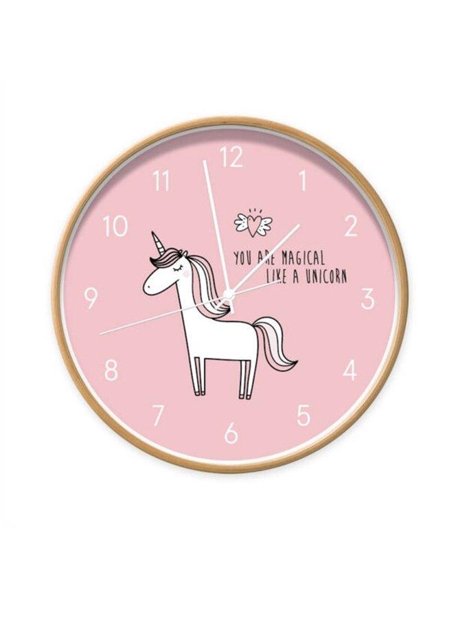 Children's clock unicorn pink  Unicorn 'you are magical like a unicorn'