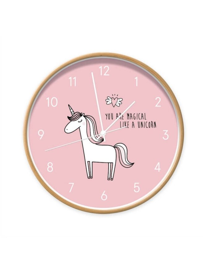 Klok Unicorn roze You are magical
