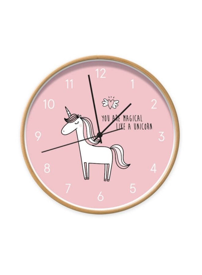 Clock Unicorn pink You are magical