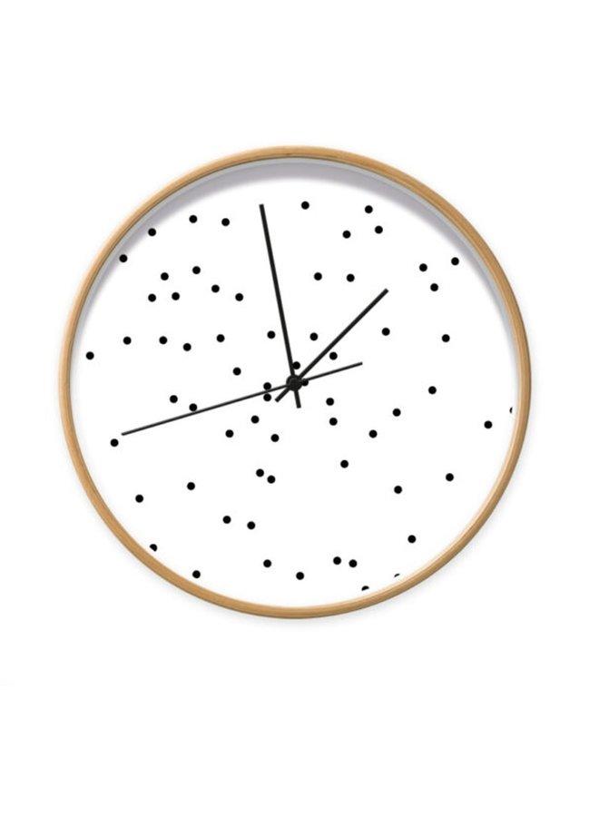 Clock dots black & white 001