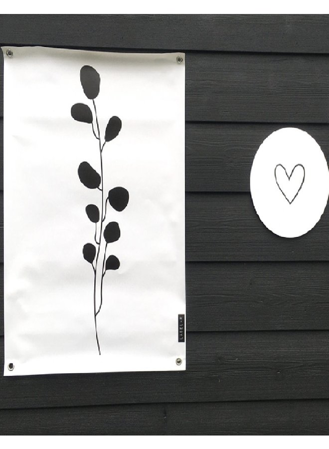 Outdoor poster leaves white