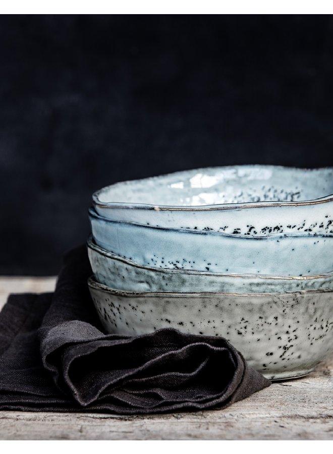Schaaltje Rustic grijs blauw   14cm