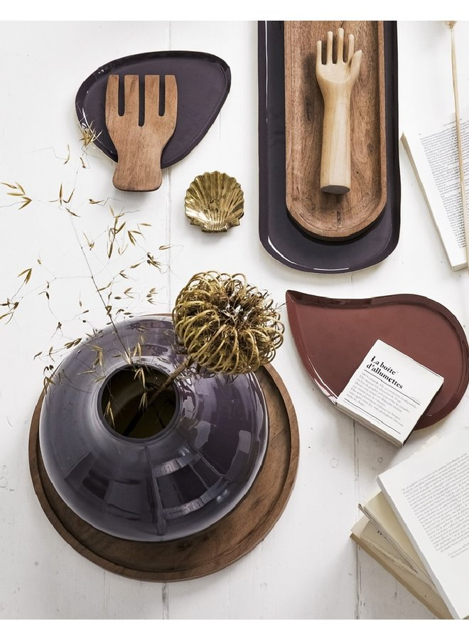Vase, warm brown, Metal | 30cm