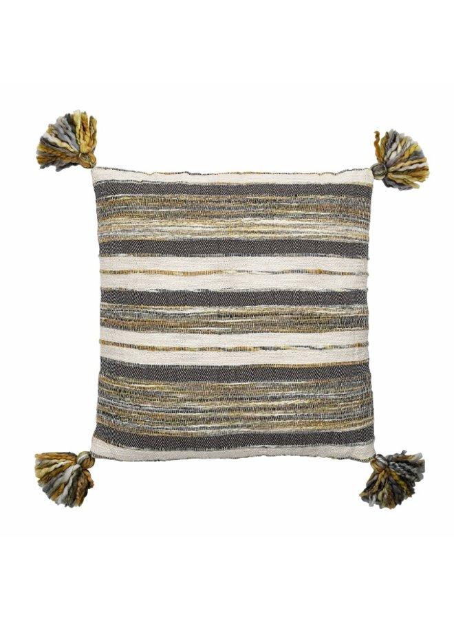 Cushion, nulti-color, stripes, Cotton