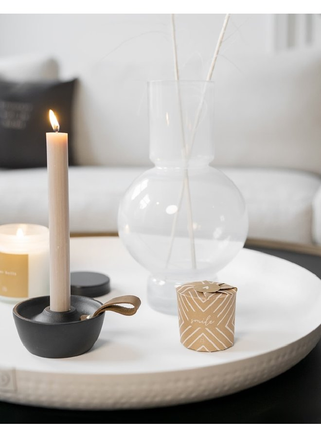 Candle rustic black