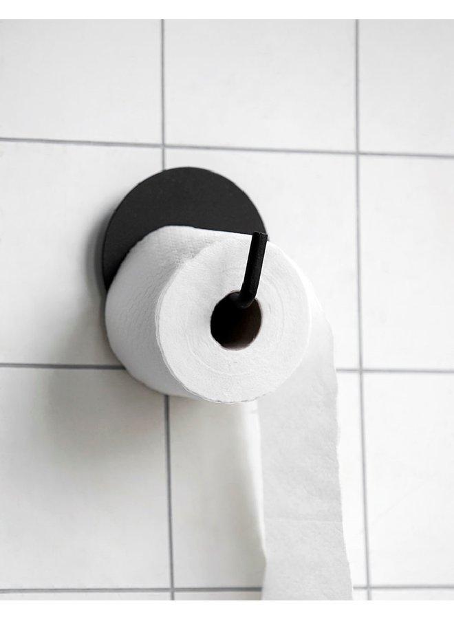Toiletrolhouder, Text  zwart