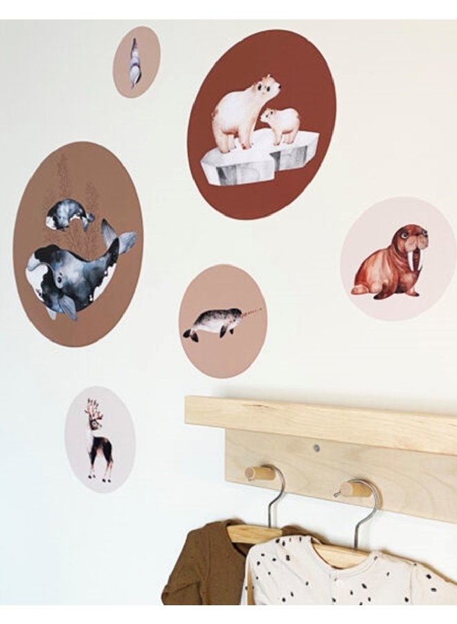 Wall stickers Sealife brown