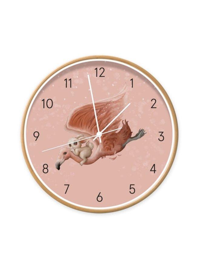 Children's clock  Magical Flamingo