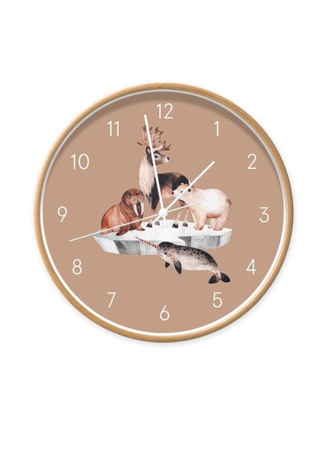 Children's clock  Sealife brown