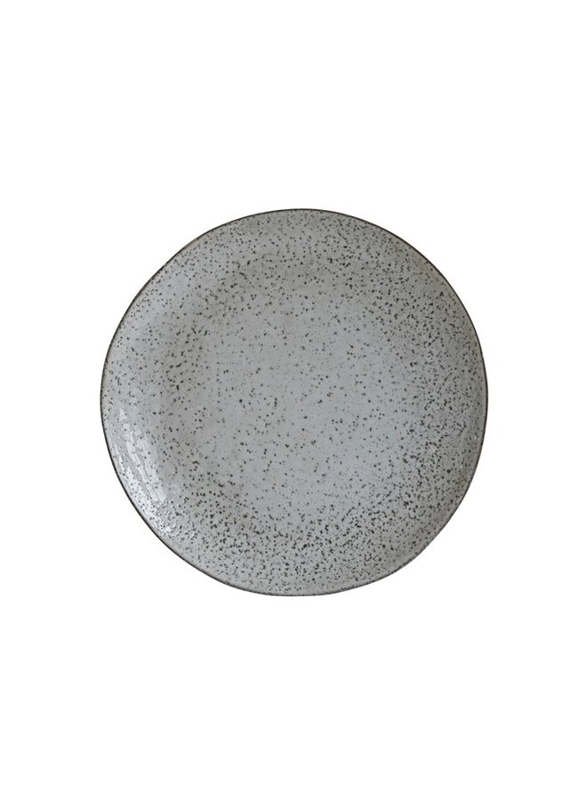 Gebaksbord Rustic grijs blauw