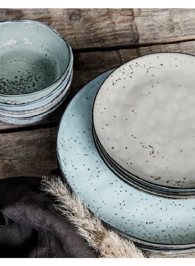 Cake plate Rustic grey blue