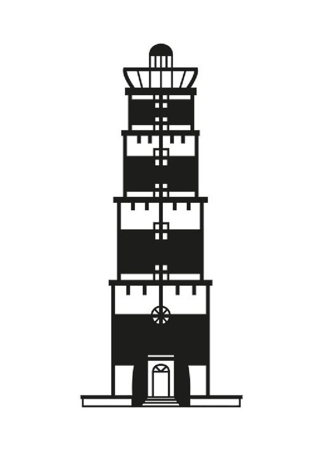Wooden wall decoration lighthouse Terschelling