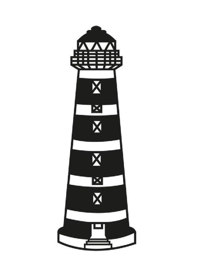 Wooden wall decoration lighthouse Ameland