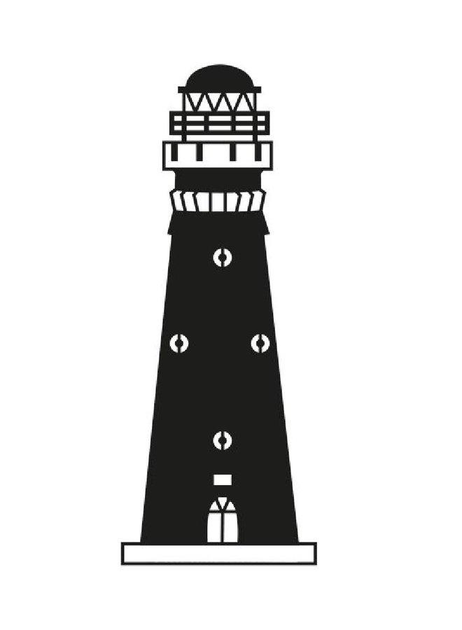 Wooden wall decoration lighthouse Schiermonnikoog