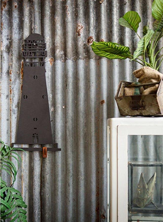 Houten wanddecoratie vuurtoren Schiermonnikoog