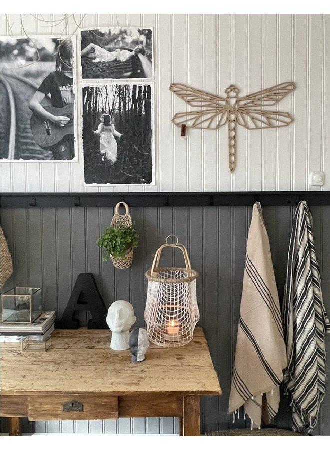 Houten wanddecoratie libelle