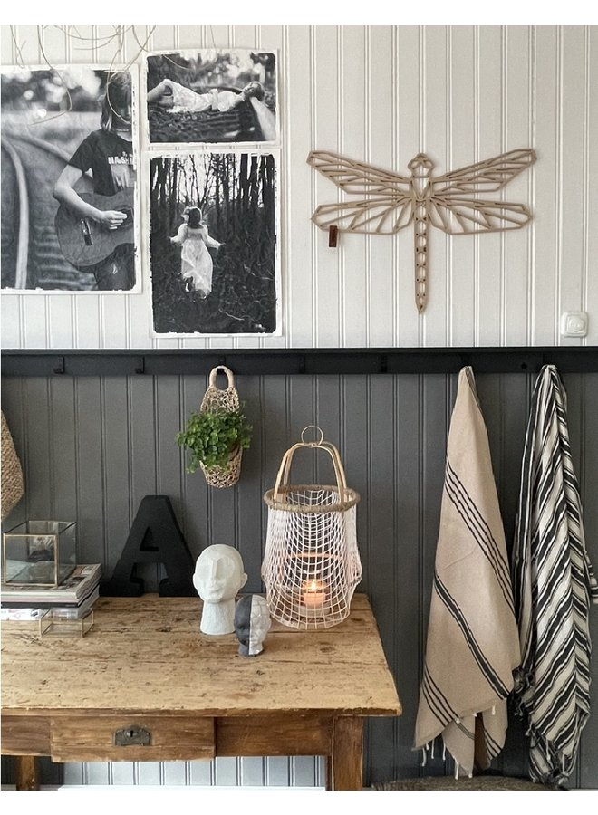 Wooden wall decoration dragonfly