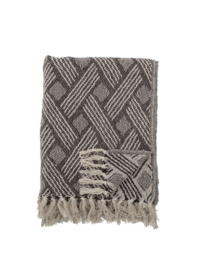 Ghina Throw, Nature, Recycled Cotton