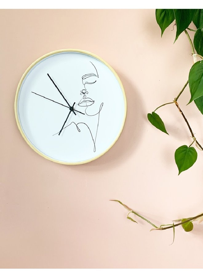 Clock One Line Face