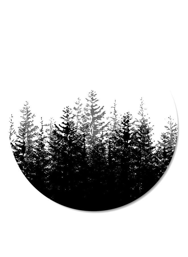 Wall Circle Forest