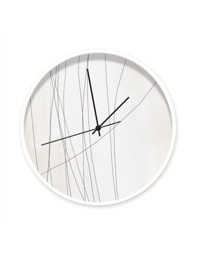Clock Abstract Lines