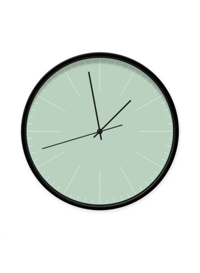 Clock minty green with stripes